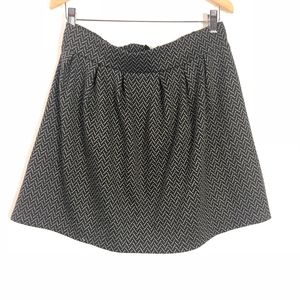 Candie's Chevron Skirt Knit Stretch Exposed Zipper